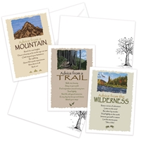 Advice from the Mountain, Trail and Wilderness Greeting Cards
