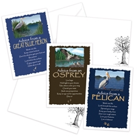Advice from the Great Blue Heron, Osprey and Pelican Greeting Cards