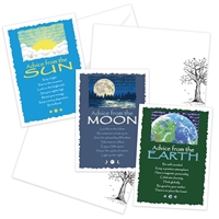 Advice from the Earth, Moon and Sun Greeting Cards