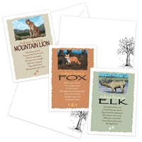 Advice from the Elk, Fox and Mountain Lion Greeting Cards