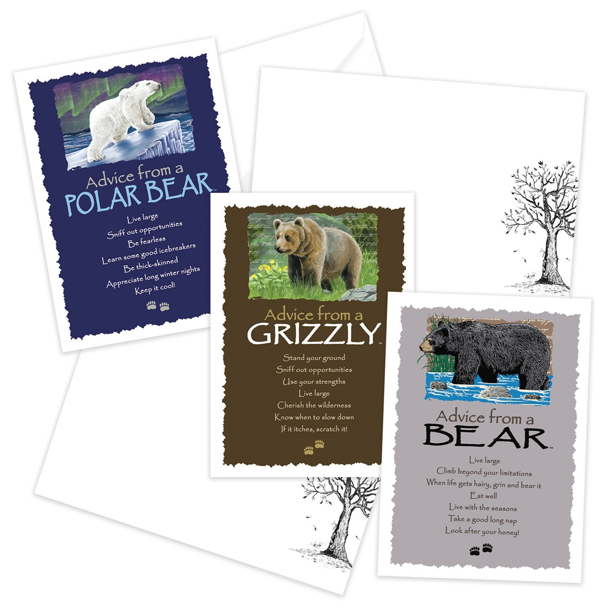 Advice from the Bear, Grizzly and Polar Bear Greeting Cards