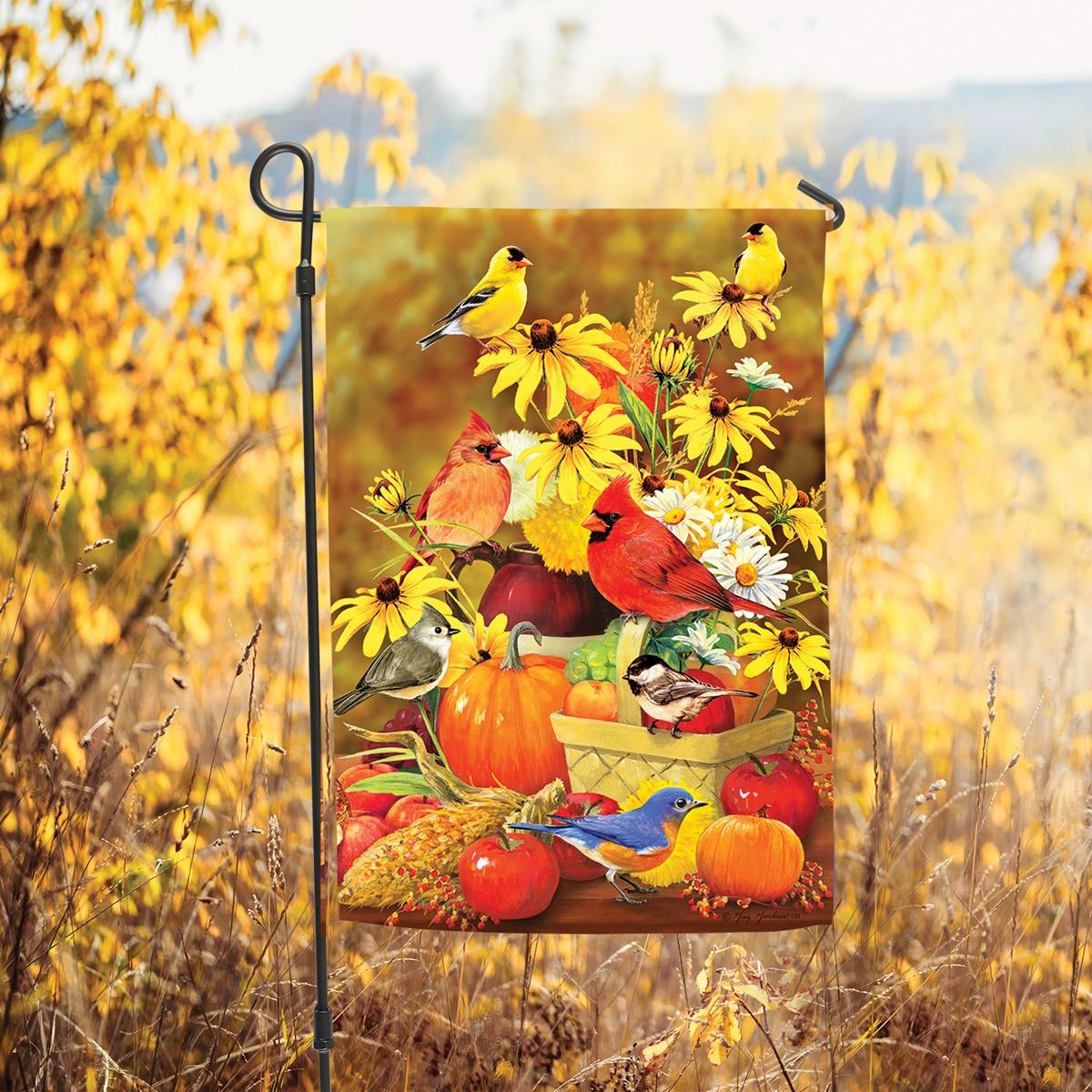 Autumn Songbirds Garden Flag