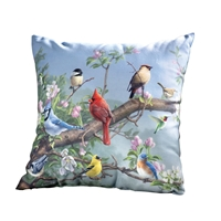 Songbirds in Apple Blossoms Pillow
