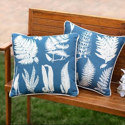 Ferns Reversible Pillow