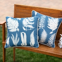 Ferns Reversible Pillow