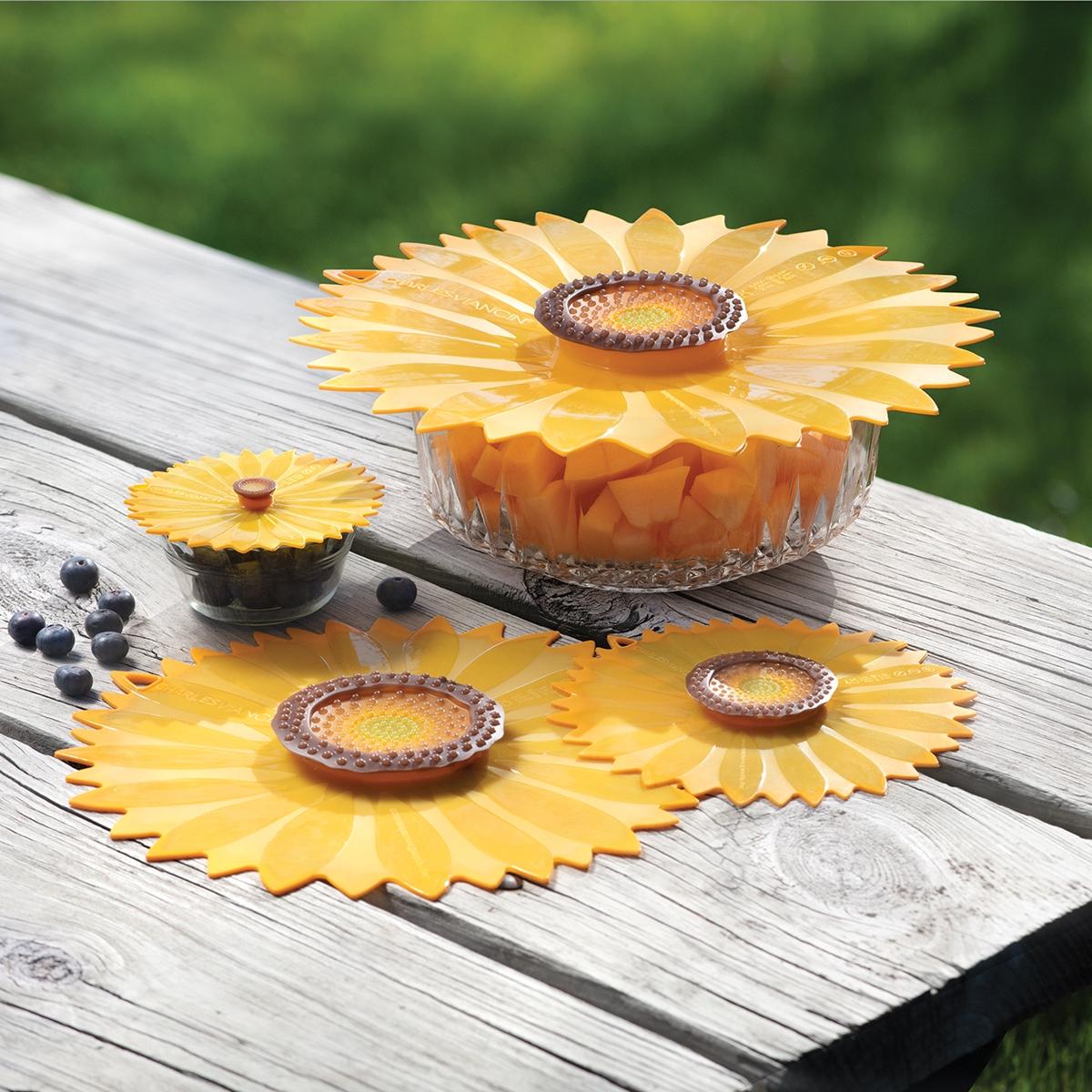 Sunflower Reusable Lids
