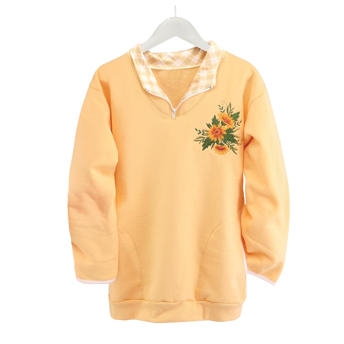 Sunflower Zip Pullover