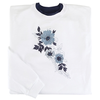 Blue Floral Cascade Pullover