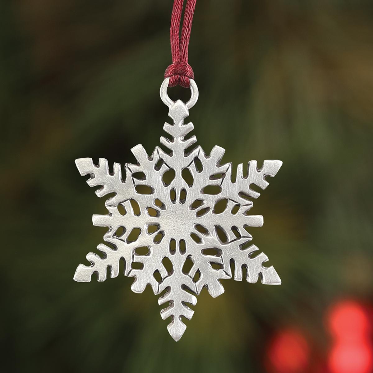 Snowflake Plant a Tree Ornament