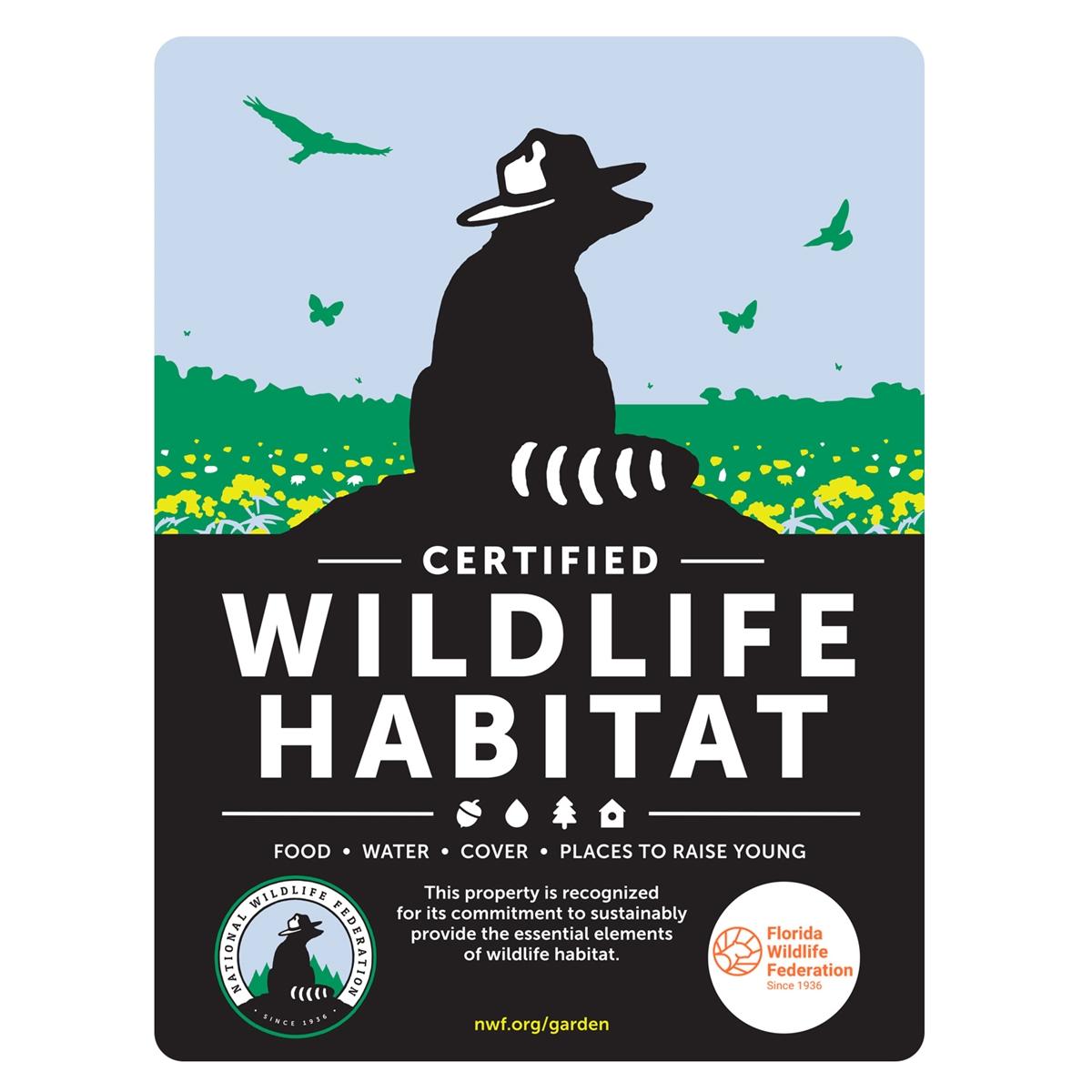 Florida Wildlife Federation Certified Wildlife Habitat Sign