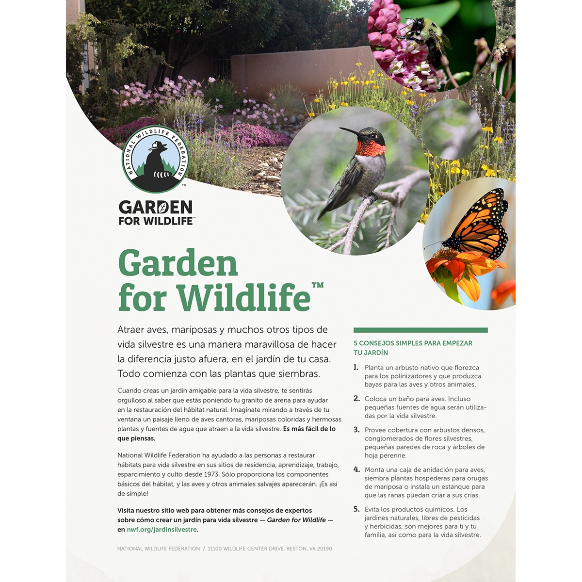 Certified Wildlife Habitat Application - Spanish Language