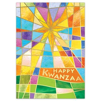 Stained Glass Star Kwanzaa