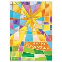 Stained Glass Star Kwanzaa