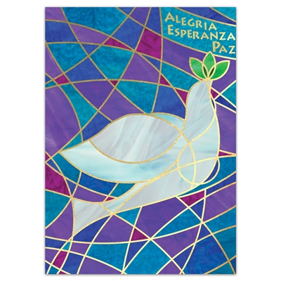 Stained Glass Dove - Spanish