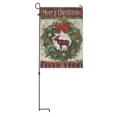 Woodland Christmas Garden Flag