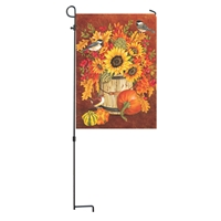 Chickadees and Sunflowers Garden Flag