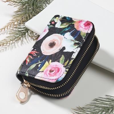 Floral Keychain Wallet