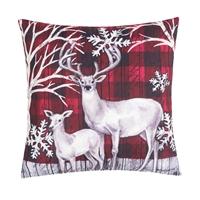 Winter Forest Deer Pillow