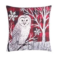 Winter Forest Owl Pillow
