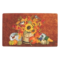 Chickadees and Sunflowers Mat