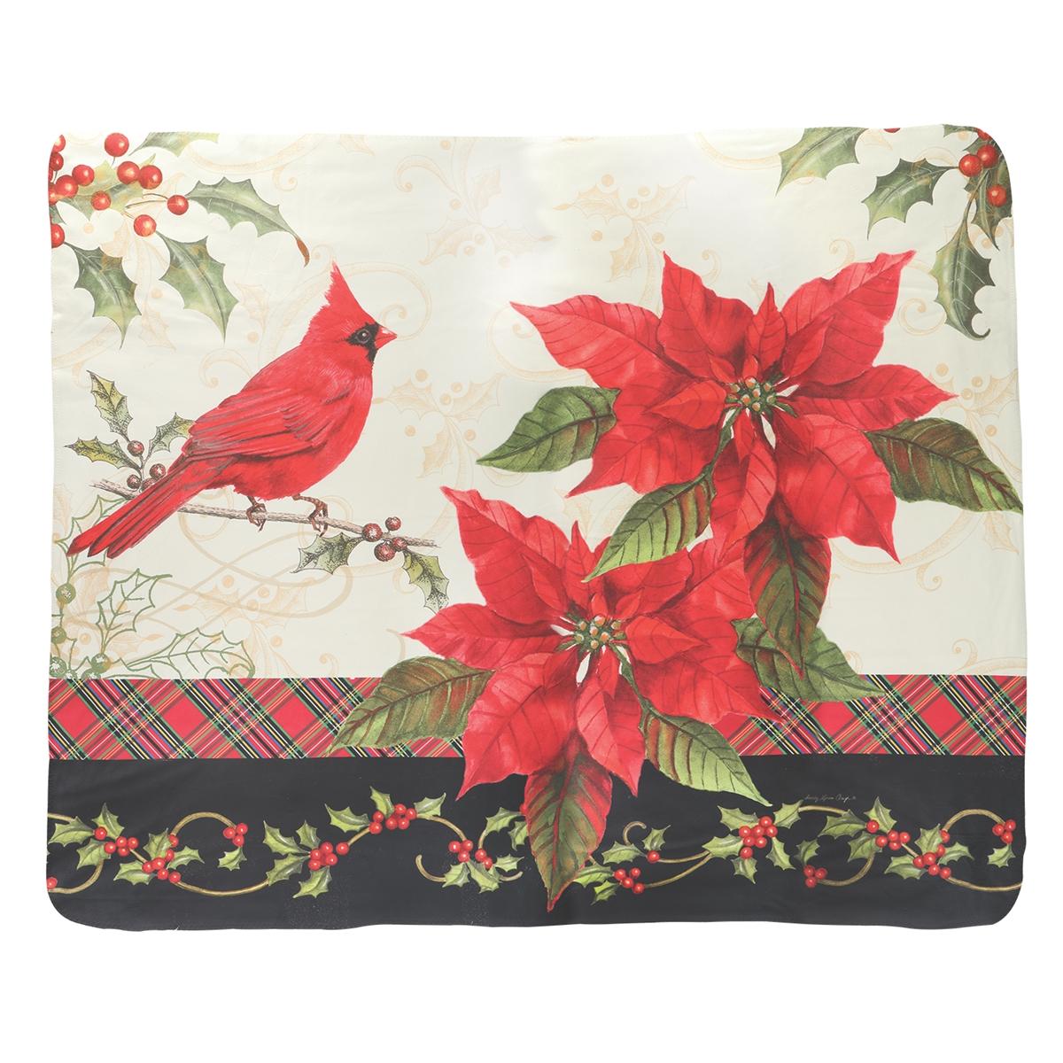 Christmas Cardinals Throw