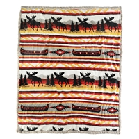 Moose Sherpa Throw
