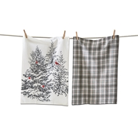 Trees and Cardinal Kitchen Towels