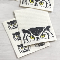 Peeking Owl Dish Cloth Set