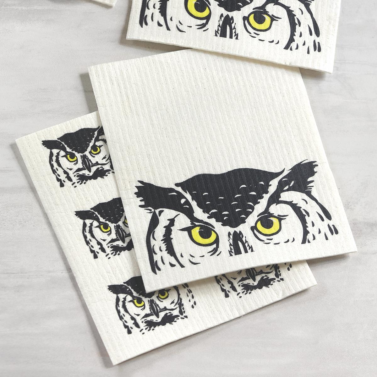 Peeking Owl Dish Cloth Set