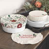 Holiday Reusable Bowl Covers