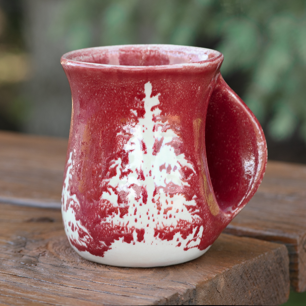 Tree Handwarmer Mug - Red