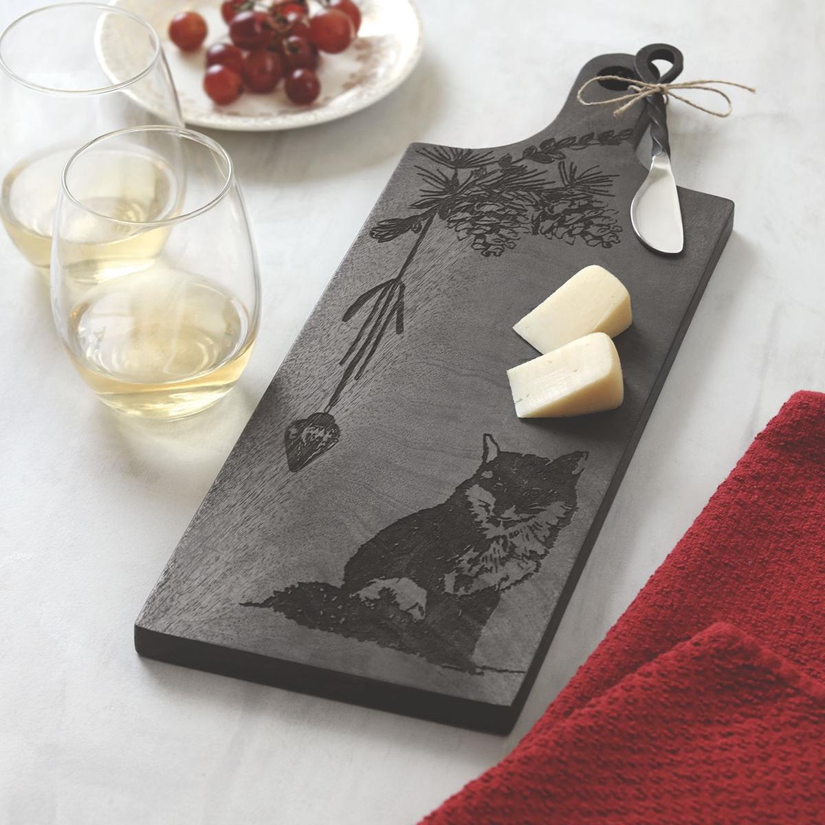 Fox Cheese Board Set