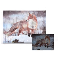 Fox LED Canvas Print