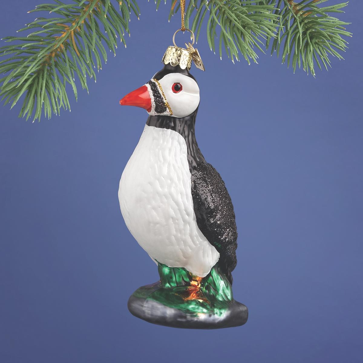 Puffin Glass Ornament