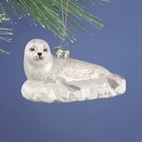 Seal Glass Ornament