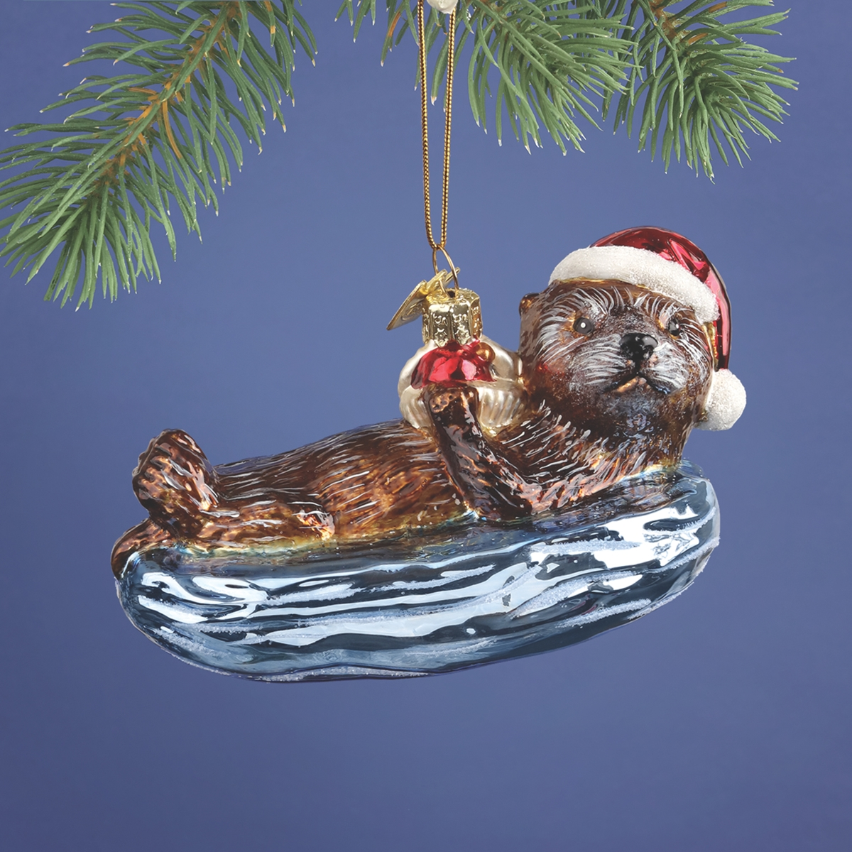 Sea Otter Glass Ornament