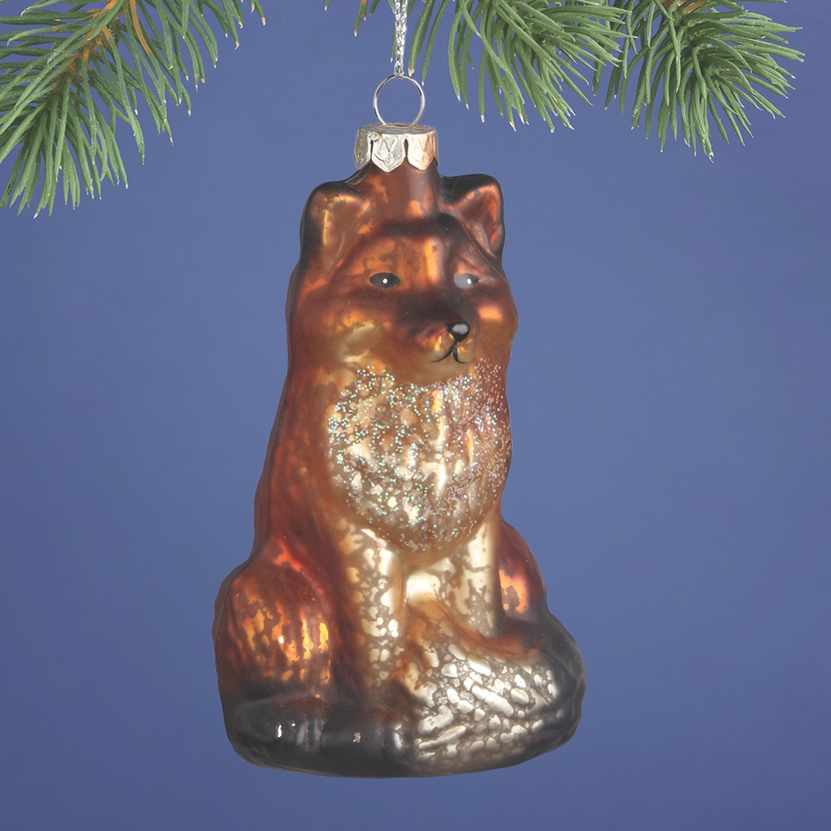 Fox Glass Ornament