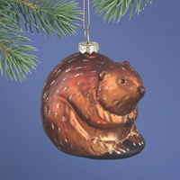Beaver Glass Ornament