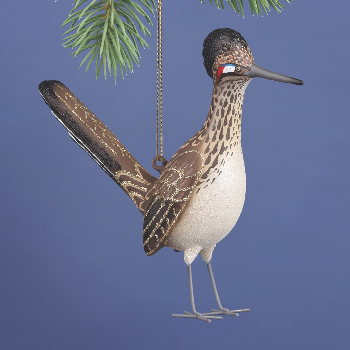 Roadrunner Glass Ornament