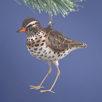 Sandpiper Glass Ornament