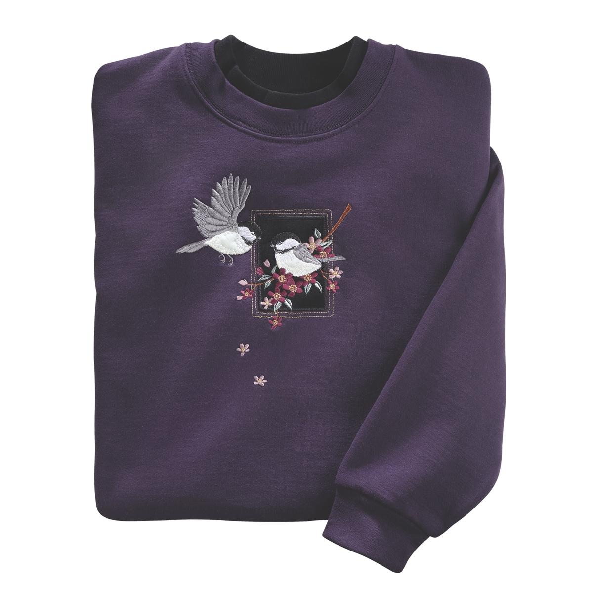 Velvet Chickadee Pullover