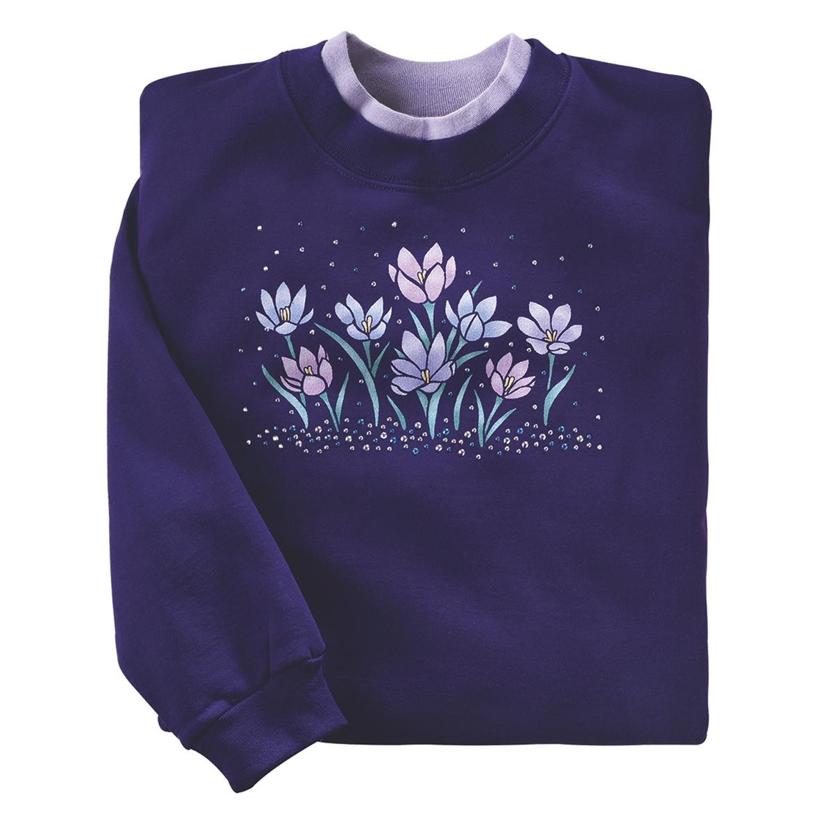 Shimmering Crocus Pullover