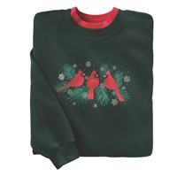 Cardinals and Evergreens Pullover