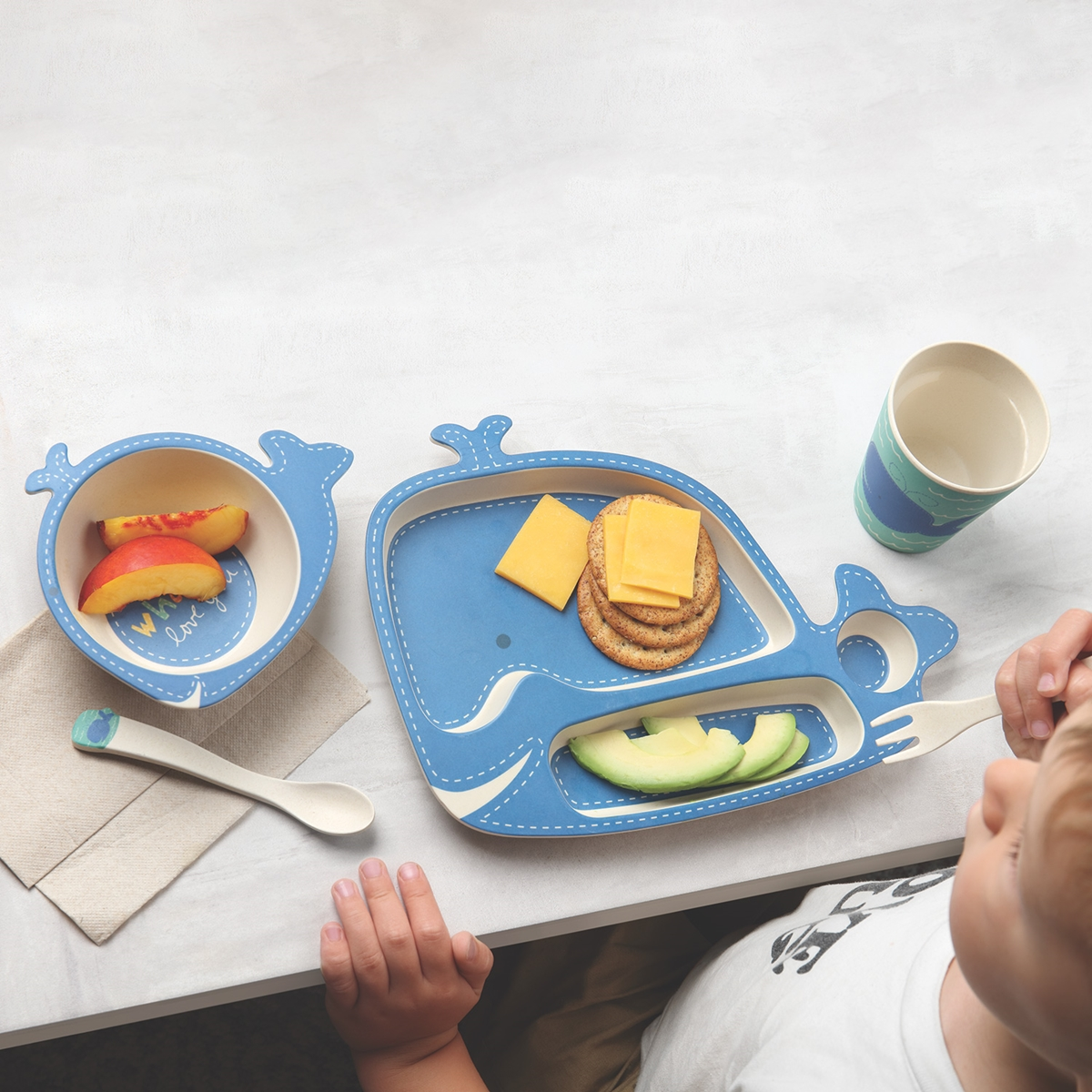 Wally the Whale Dinner Set