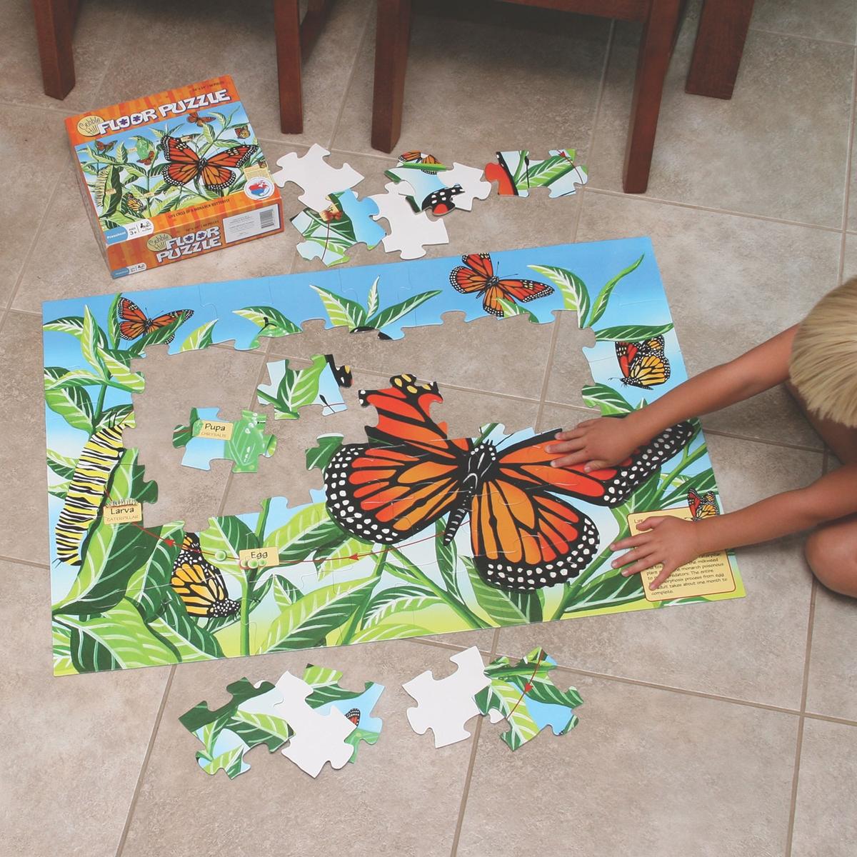 Monarch Lifecycle Floor Puzzle
