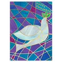 Stained Glass Dove - Hanukkah