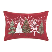 Snowy Trees Small Pillow