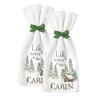 Life is Better at the Cabin Kitchen Towels