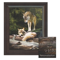 Wolves Personalized Art Print