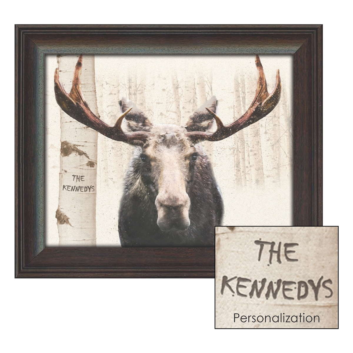 Aspen Moose Personalized Art Print